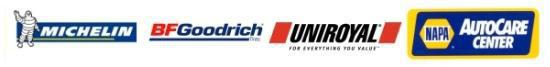 We carry Michelin®, BFGoodrich®, Uniroyal®, and most other major tire brands.