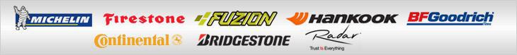 We carry products from Michelin®, Firestone, Fuzion, Hankook, BFGoodrich®, Continental, Bridgestone, and Radar.
