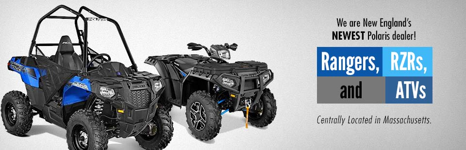 We are New England's newest Polaris dealer! Click here to view our showcase.