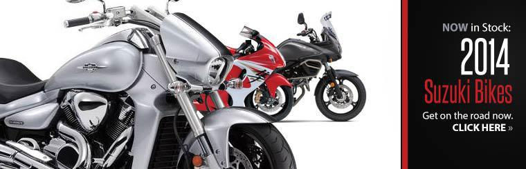 The 2014 Suzuki bikes are now in stock!