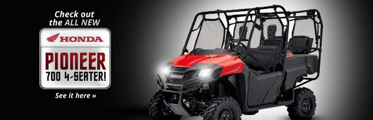 Check out the all new Honda Pioneer 700 4-seater! Click here to view it online.