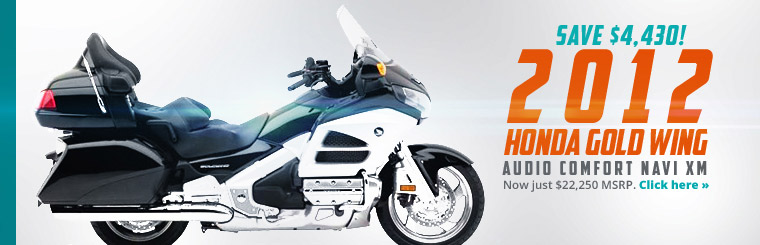 Save $4,430 on the 2012 Honda Gold Wing Audio Comfort Navi XM!