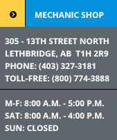 Mechanic Shop Hours