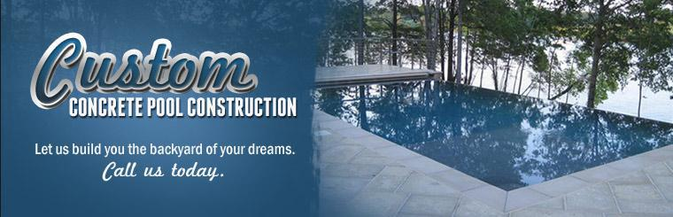 Let us build the backyard of your dreams. Contact us today for custom concrete pool construction.