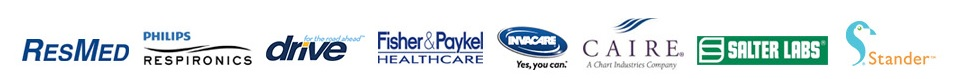 We carry products from RedMed, Phillips Respironics, Drive, Fisher & Paykel, Invacare, CAIRE, Salter Labs and Stander.
