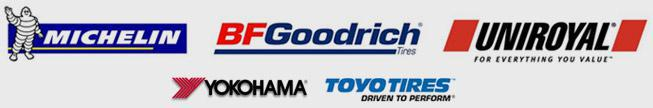 We are proud to feature products from Michelin®, BFGoodrich®, Uniroyal®, Yokohama and Toyo!