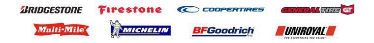 We carry products from Bridgestone, Firestone, Cooper, General, Multi-Mile, Michelin®, BFGoodrich®, and Uniroyal®.