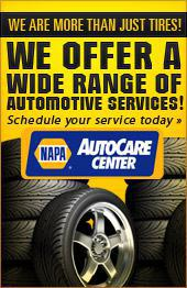 We are more than just tires! We offer a wide range of automotive services! Schedule your service today.