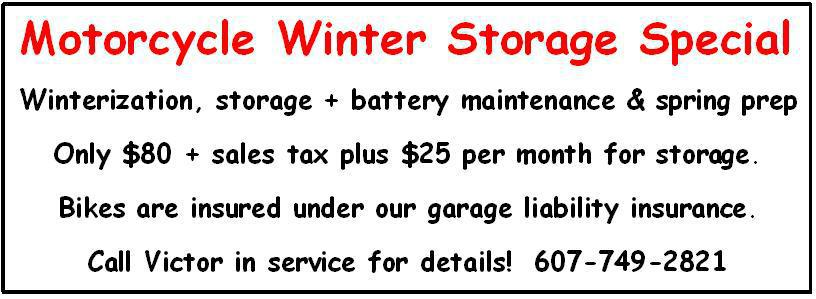 Winter storage banner