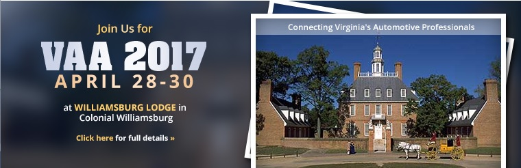 VAA 2015 is April 28-30 at Williamsburg Lodge in Colonial Williamsburg!