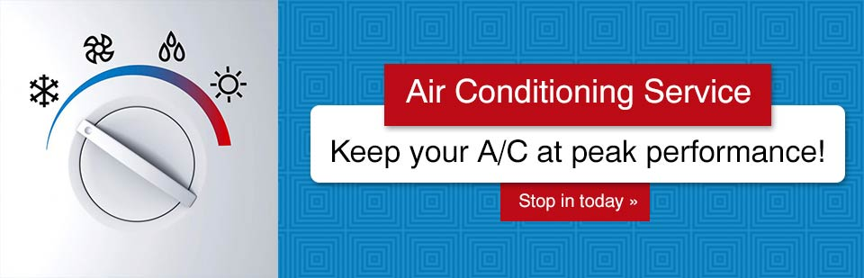 Keep your A/C at peak performance! Stop in today for air conditioning service.