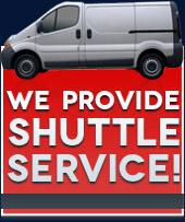 We provide shuttle service!