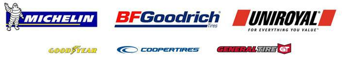 We carry quality products from Michelin®, BFGoodrich®, Uniroyal®, Goodyear,  Cooper,  and General.