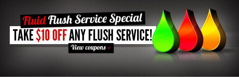 Take $10 Off Any Fluid Flush Service