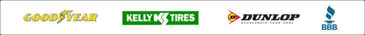 We proudly carry tires from Goodyear, Kelly, and Dunlop.