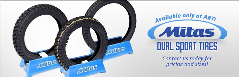 Mitas Dual Sport tires are only available at ABT! Click here to contact us.