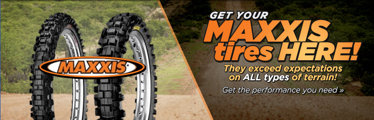 Get your Maxxis Tires here! They exceed expectations on all types of terrain! Click here to view our selection.