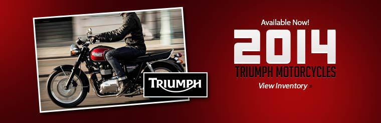 2014 Triumph motorcycles are available now! Click here to view our inventory.