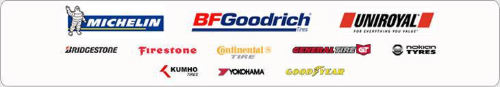 We carry products from Michelin®, BFGoodrich®, Uniroyal®, Bridgestone, Firestone, Continental, General, Nokian, Kumho, Yokohama, and Goodyear.
