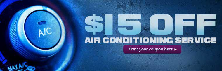 Get $15 off air conditioning service! Click here to print the coupon.