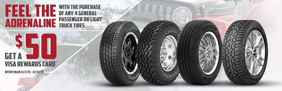 U.S. AutoForce General Tire Offer: Contact us for details.