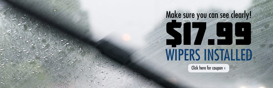 Twin City Tire & Auto Service wants to make sure you can see clearly with new wipers for only $17.99! Click here for your coupon.