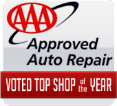 AAA Approved Auto Repair: Voted Top Shop of the Year!