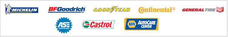 We carry great products from Michelin®, BFGoodrich®, Goodyear Continental, General, ASE, and Castrol. We are affiliated with NAPA.