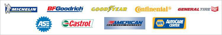We carry great products from Michelin®, BFGoodrich®, Goodyear Continental, General, ASE, and Castrol. We are affiliated with ACCC, and NAPA.