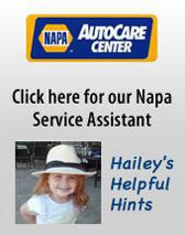 Click here for our Napa Service Assistant