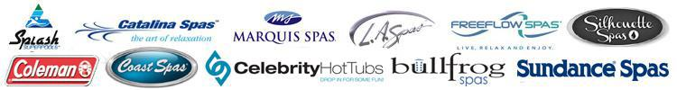 We carry products from  Splash Pools, Catalina Spas, Marquis Spas, FreeFlow Spas, LA Spas, Sihouette Spas, Bullfrog Spas, Coast Spas, and Coleman Spas .