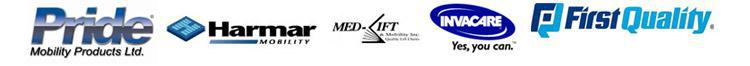 We carry quality products from Pride, Harmar Mobility, Med-Lift, Invacare, and First Quality.