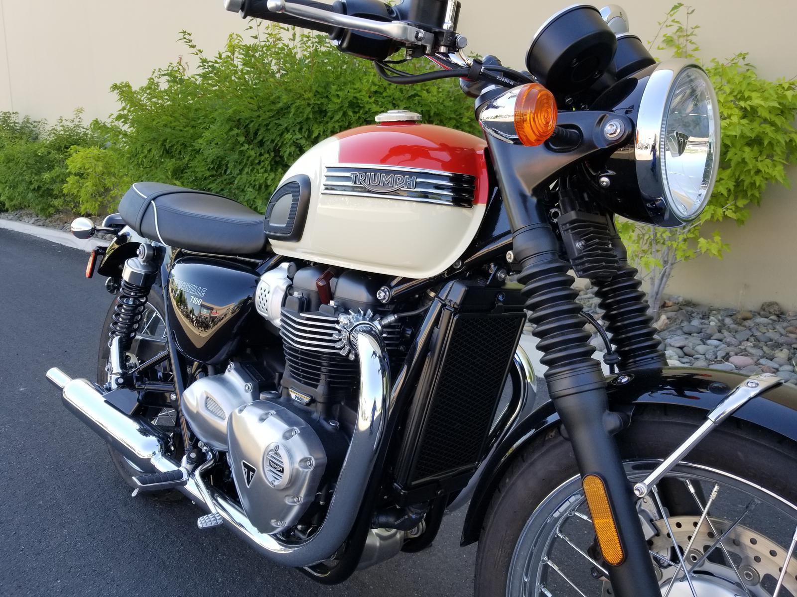 2018 Triumph Bonneville T100 For Sale In Reno Nv Euro Cycle Reno