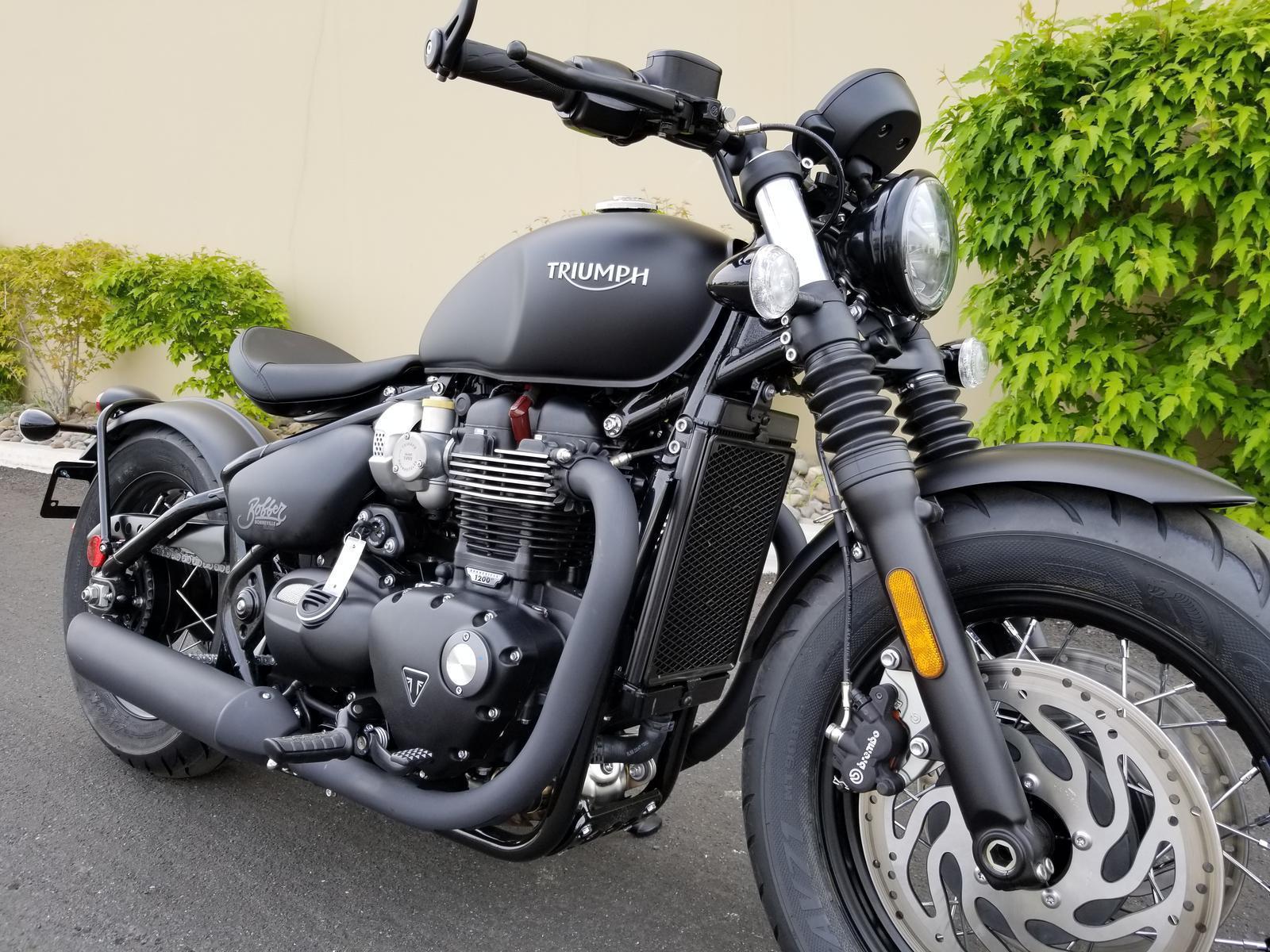 2018 Triumph Bonneville Bobber Black Matte For Sale In Reno Nv