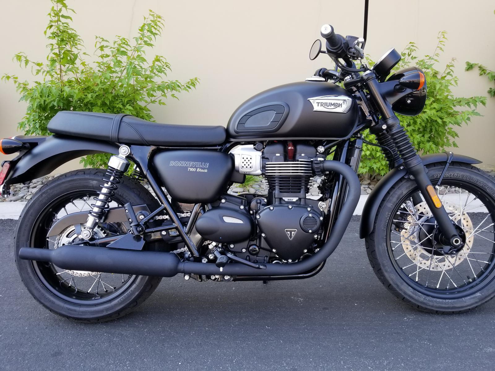 2019 Triumph Bonneville T 100 Black For Sale In Reno Nv Euro Cycle