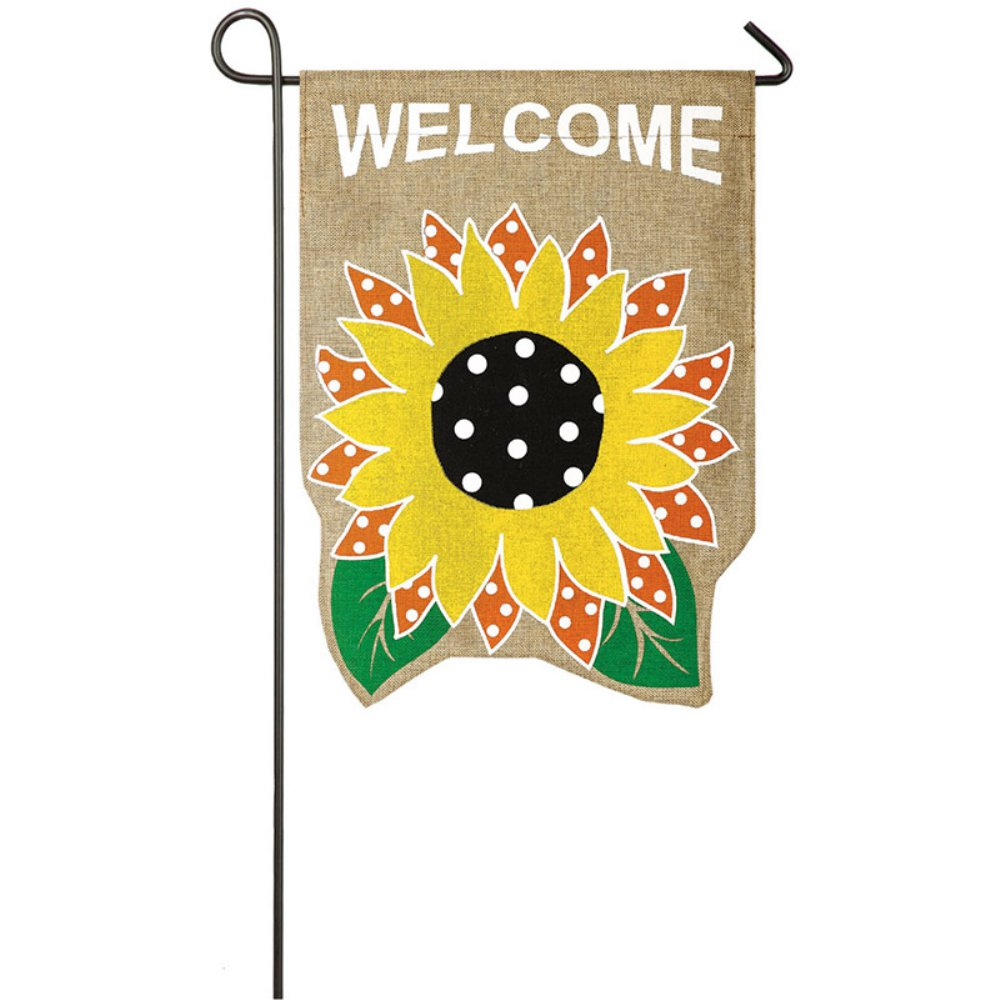Charmant Evergreen Flag Sunflower Welcome Garden Flag