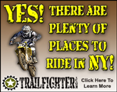 Yes! There are plenty of places to ride in NY!  Trailfighter, Click here to learn more.