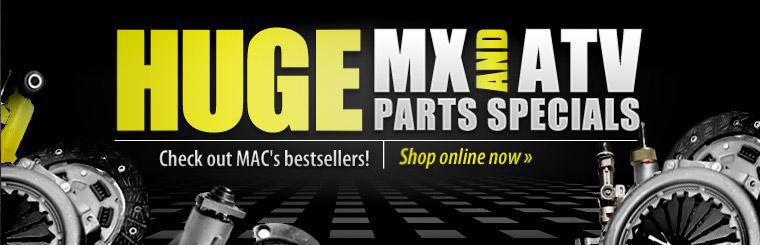 Huge MX and ATV Parts Specials