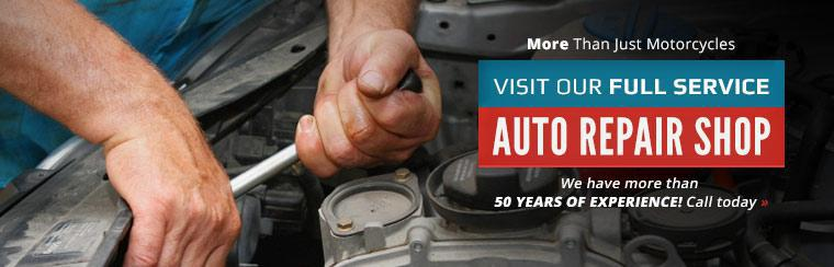 Visit our full service auto repair shop! We have more than 50 years of experience.