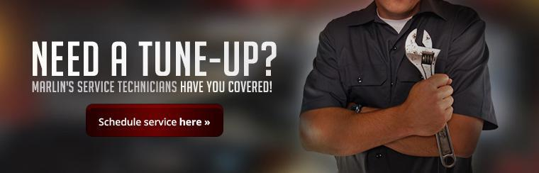 Need a tune-up? Marlin's Service technicians have you covered! Click here to schedule service.