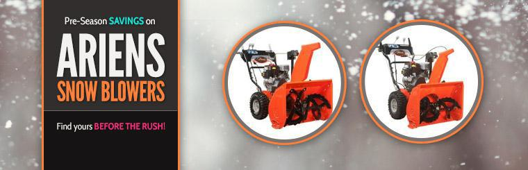 Pre-Season Savings on Ariens Snow Blowers: Click here to find yours before the rush!