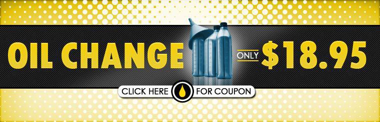 Get an oil change for only $18.95! Click here for the coupon.