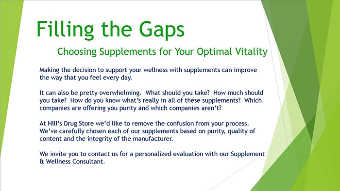 Filling the Gaps: Choosing Supplements for your Optimal Vitality.