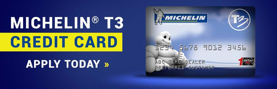 Apply for the Michelin® T3 credit card at Double H Tire today! Contact Double H Tire in Mineral Wells, TX today for details.