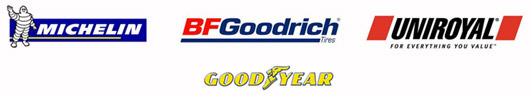 We proudly carry products from Michelin®, BFGoodrich®, Uniroyal®, and Goodyear.