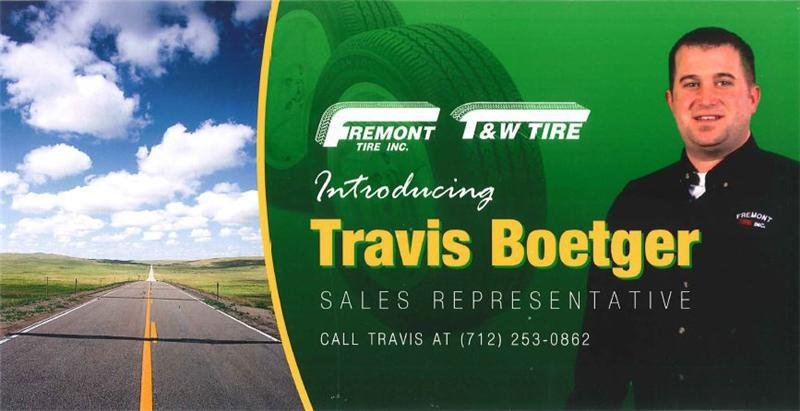 Welcome to our new tire sales rep, Travis!