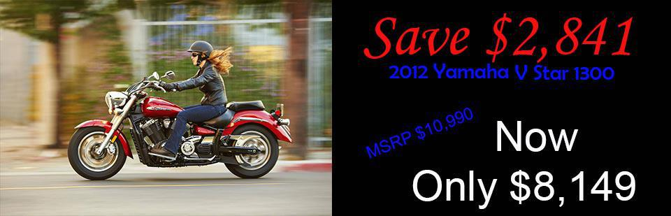 Save $2,841 on a New 2012 V-Star 1300
