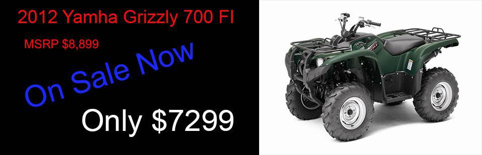 Save $1,600 on a New 2012 Grizzly 700 FI