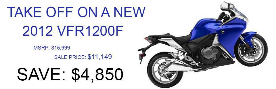 Save $4,850 on a New 2012 VFR1200F!