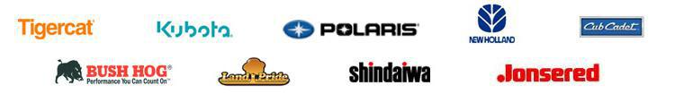 We carry products from Tigercat, Kubota, Polaris, New Holland, Cub Cadet, Bush Hog, Land Pride, Shindaiwa, and Jonsered.